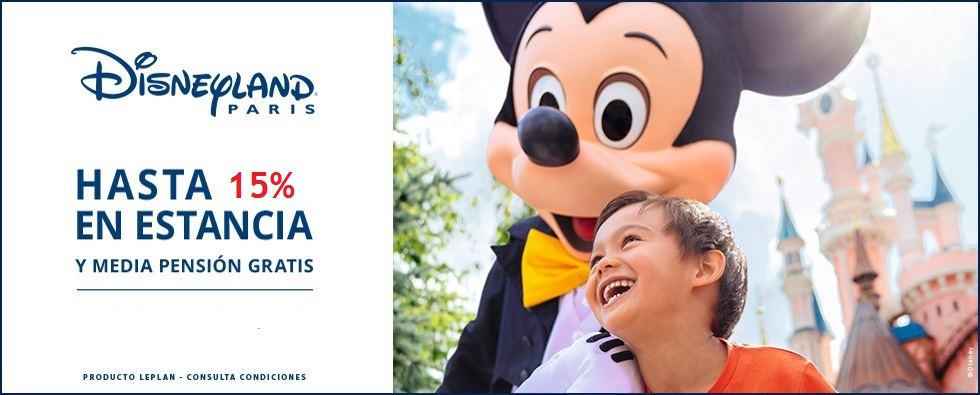 Disneyland Paris -Oferta  15% Descuento