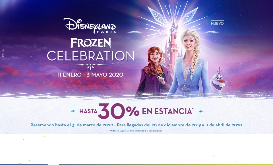 Frozen Celebration , Hasta  30% en estancia